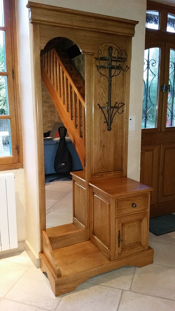 R alisations meuble d 39 entr e mathieu meubles d 39 art - Porte manteau meuble d entree ...